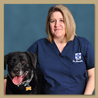 Affilitated Veterinary Emergency Service Doctor Keryn Plensdorf with Pagan